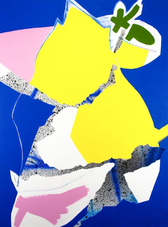 01-Gregor Belibi Minya-Sampling Control n°12, 2019, Acrylique, spray et pastel sur toile, 120x160cm