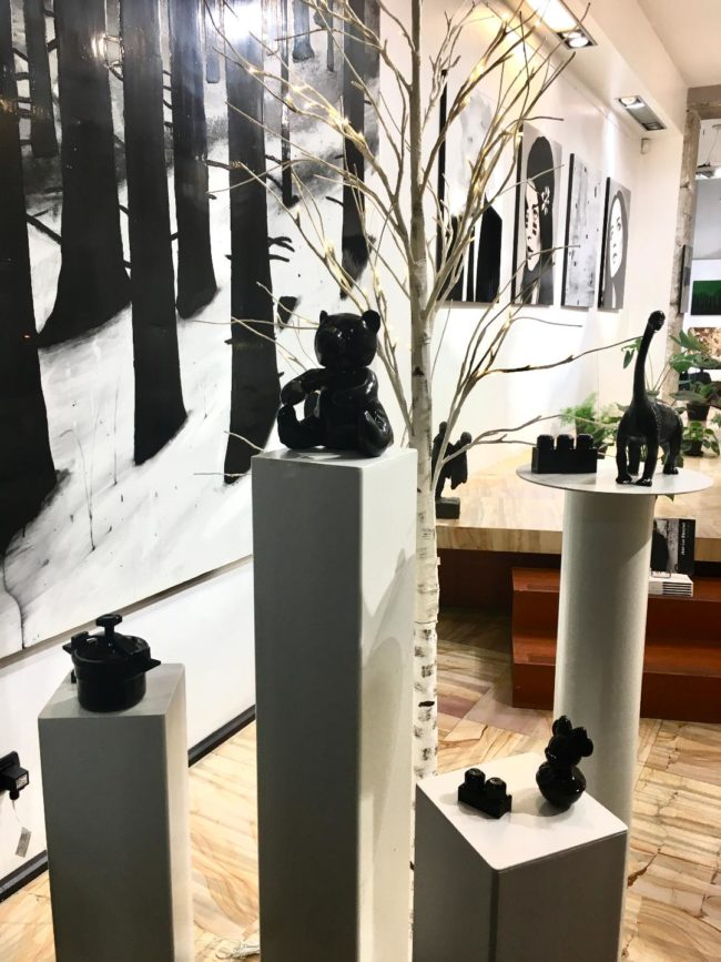 Christmas shop window 2020 - La Galerie Valérie Eymeric